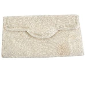 Gucci Silver Beaded Clutch